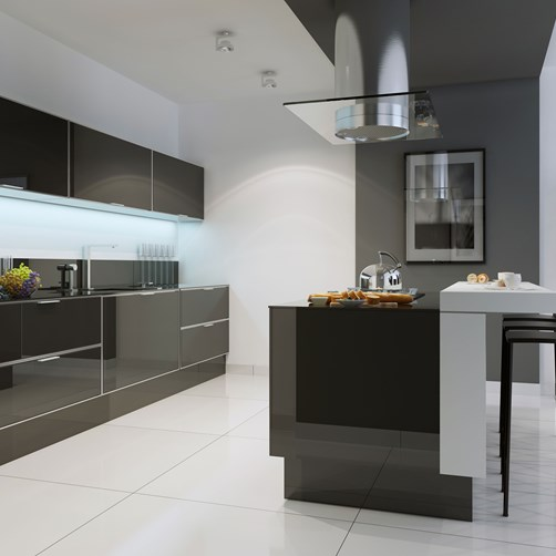 Glass Kitchen draws black by Metro Glass