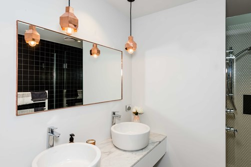 Mirror Square Framed 700 in bathrooms by Metro Glass