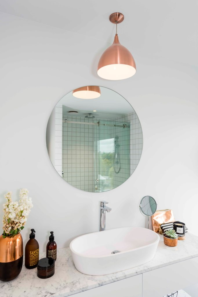 Mirror Round 700 In Bathroom By Metro Gl